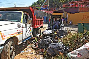 De esta forma los desechos solidos fueron retirados de la localidad