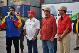 Alcalde acompaña al Presidente Maduro en el puerto de la Guaira