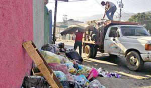El domingo ejecutaron una jornada especial de recolección en La Lucha