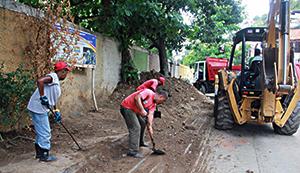 Hicieron una jornada integral de saneamiento en Guanape