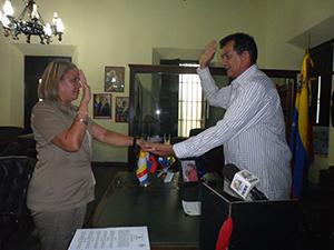 Acto de Juramentación de la Auditoría Interna de la Alcaldía del Municipio Vargas, por el primer mandatario Municipal, Alexis Toledo