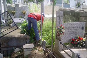 Cementerios están limpios